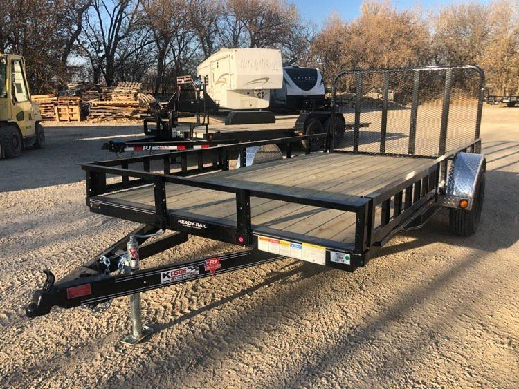 2021 PJ Trailers 6 x 14 Single Axle Channel Utility (U8) Utility Trailer