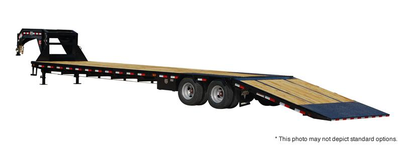 2020 PJ Trailers 32' Low-Pro with Hydraulic Dove Trailer