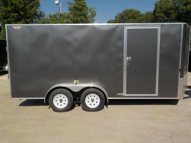 2020 H and H Trailer TANDEM FLAT TOP VNOSE Enclosed Cargo Trailer