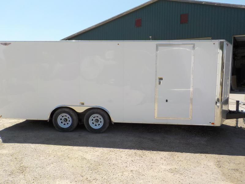 2020 H and H Trailer TFT Flat-Top Tandem Axle Enclosed Cargo Trailer