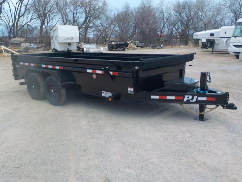 2021 PJ Trailers DL Dump Trailer 7X16-FT
