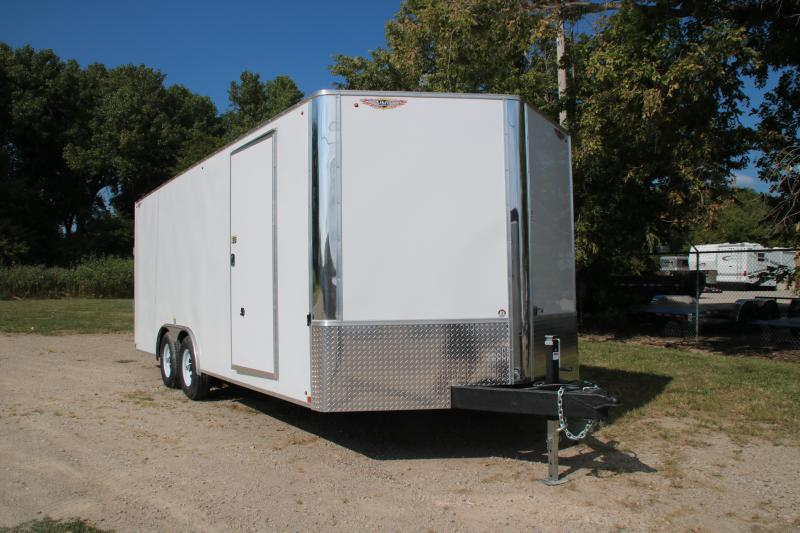 2021 H and H Trailer 101x20FT Enclosed Car / Racing Trailer