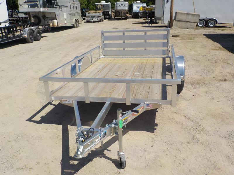 2020 H and H Trailer RSA Rail Side Single Axle Aluminum Utility Utility Trailer