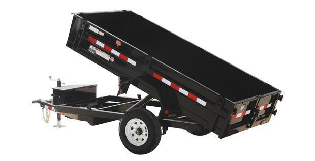 2021 PJ Trailers 5 x 10 Utility Dump (D5) Dump Trailer
