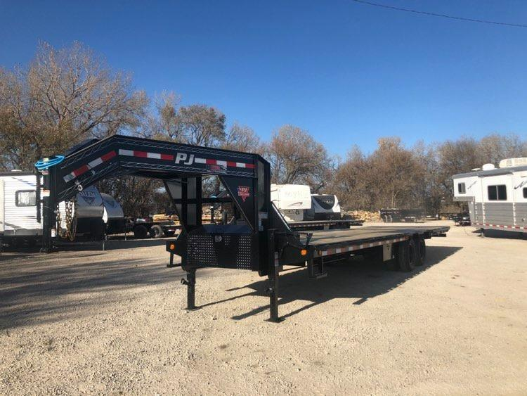 """2021 PJ Trailers 102' x 32"""" Low-Pro with Hydraulic Dove (LY) Flatbed Trailer"""