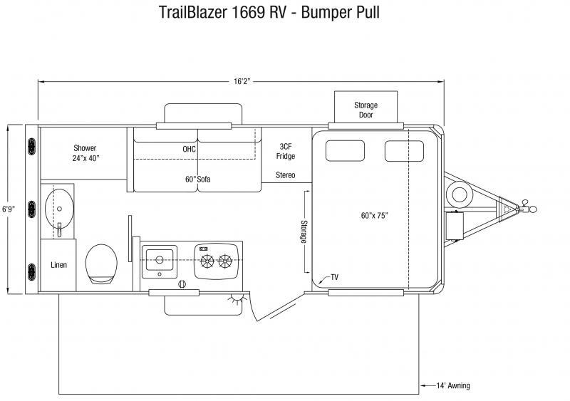2021 Sundowner Trailers Trail Blazer 1669 Travel Trailer RV
