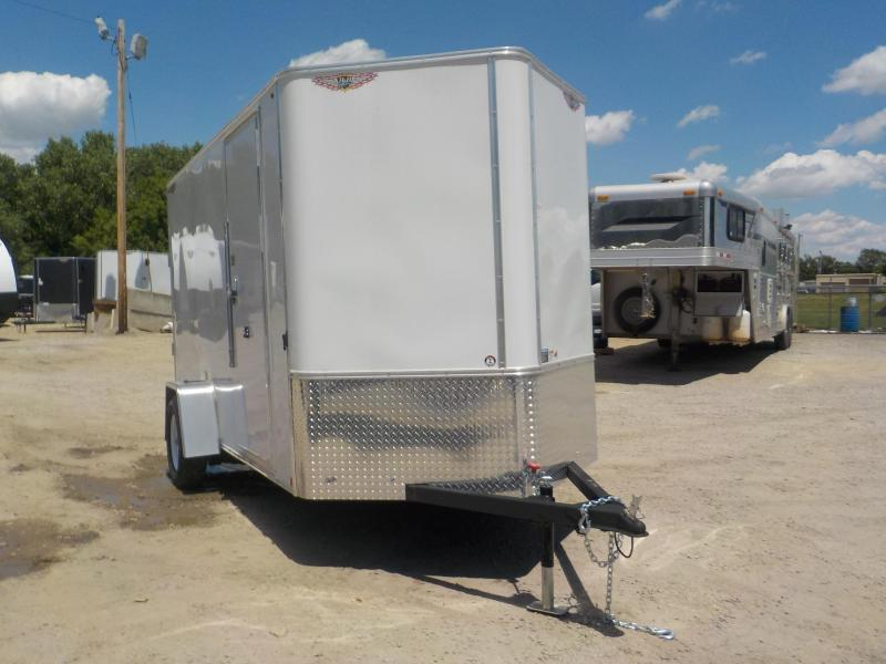 2020 H and H Trailer SFT Flat-Top Single Axle Enclosed Cargo Trailer