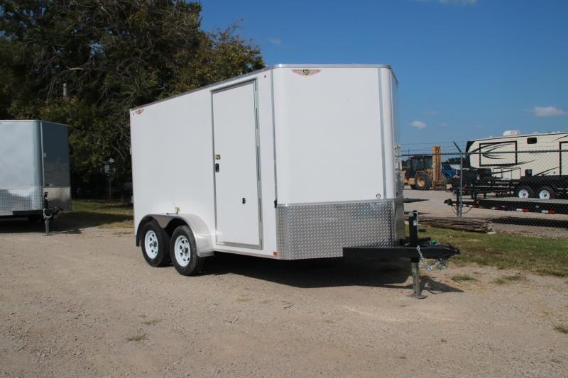 2021 H and H Trailer 12 X 7 TANDEM FLAT TOP HH VNOSE 7K CARGO