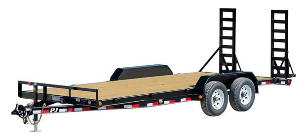 2021 PJ Trailers 20 x 5 in. Channel Equipment (CE) Equipment Trailer
