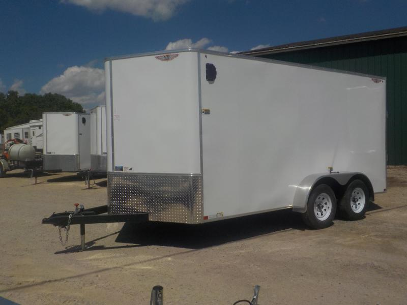 2020 H and H Trailer 7x14 Flat-Top V-Nose Tandem Axle Enclosed Cargo Trailer