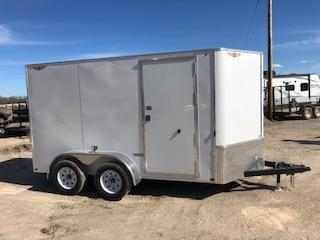 2020 H and H Trailer 6X12 TANDEM FLAT TOP HH VNOSE 7K CARGO