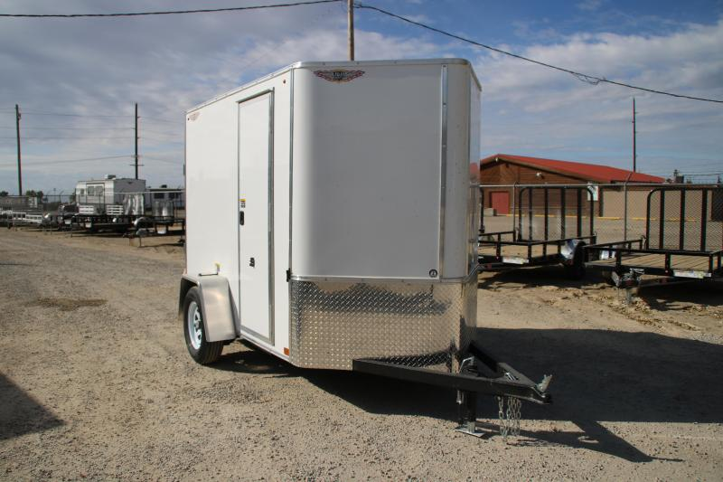 2021 H and H Trailer 5x8 HH Series Flat Top V-Nose Enclosed Cargo Trailer 3K Idler (H608SFTV-035) Enclosed Cargo Trailer