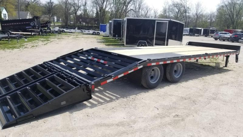 ON ORDER 2021 Sure-Trac 8.5x20+5 Heavy Duty Equipment Trailer w/Full Width Ramps 20k