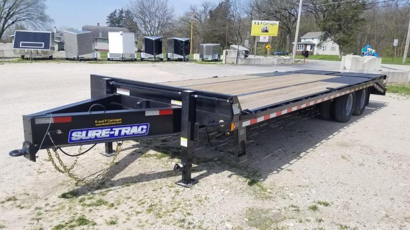 ON ORDER 2021 Sure-Trac 8.5x20+5 Heavy Duty Equipment Trailer w/Full Width Ramps 20k