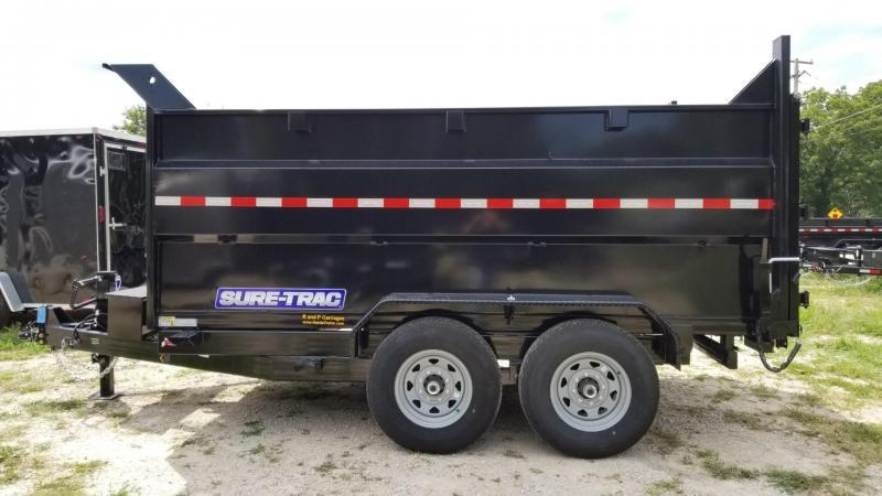 ON ORDER 2020 Sure-Trac 82x14 Telescopic Dump Trailer w/4' Sides 14k