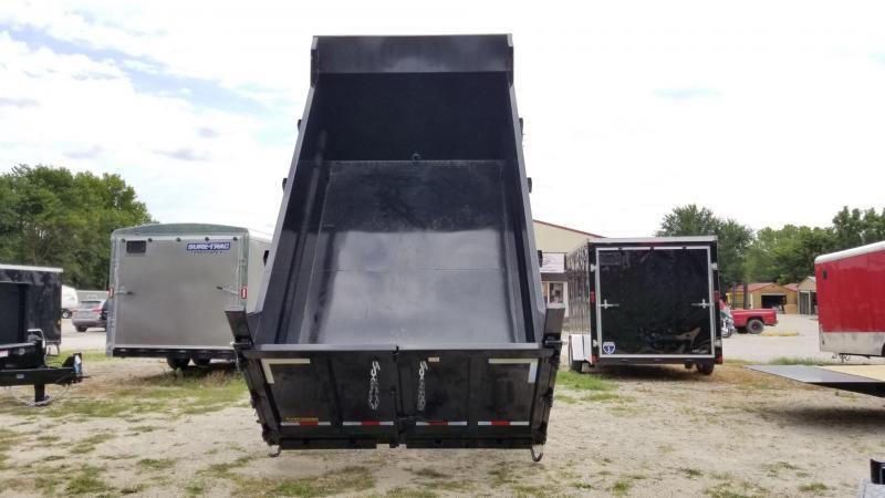 ON ORDER 2022 Sure-Trac 82x14 Telescopic Dump Trailer w/4' Sides 14k