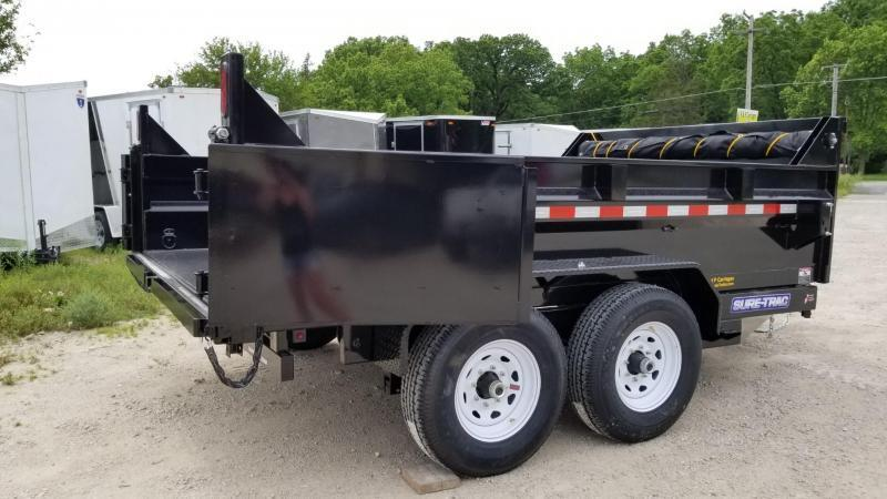 2021 Sure-Trac 82x12 Telescopic Dump Trailer 12k