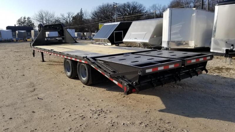 ON ORDER 2021 Sure-Trac 8.5x20+5 Heavy Duty Gooseneck Equipment Trailer w/Full Width Ramps 20k