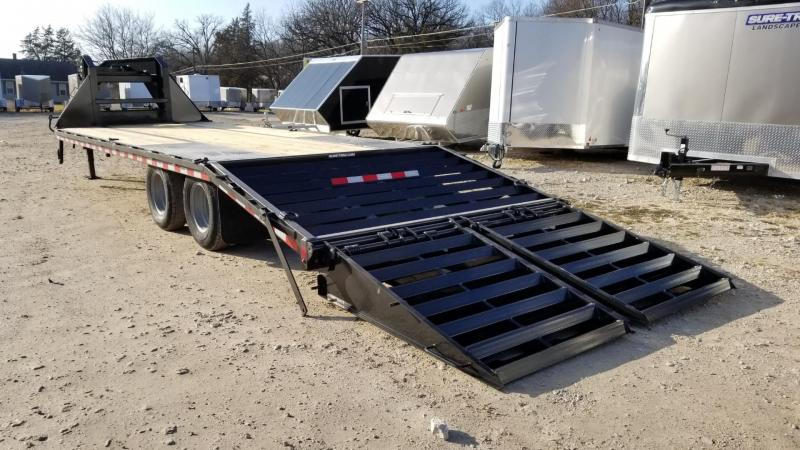 ON ORDER 2021 Sure-Trac 8.5x20+5 Heavy Duty Gooseneck Equipment Trailer w/Full Width Ramps 20k