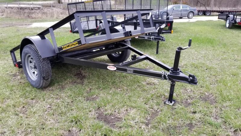2021 M.E.B 5x8 Tilt Utility Trailer w/Board Holders 3.5k