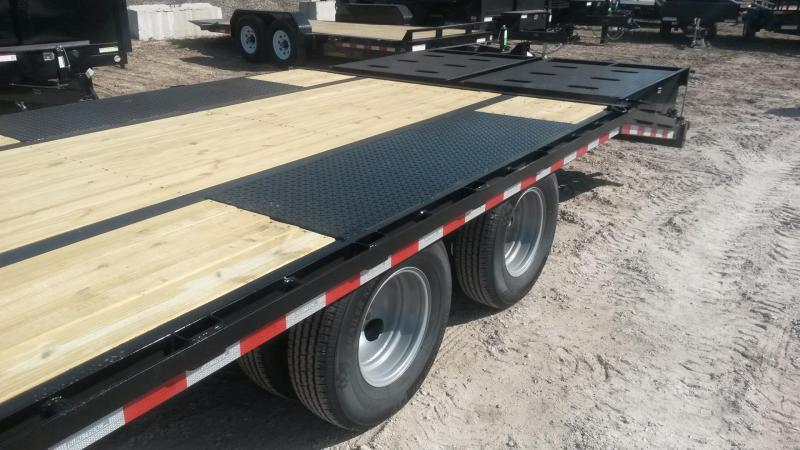 2021 Sure-Trac 8.5x20+5 Heavy Duty Equipment Trailer w/Full Width Ramps 20k