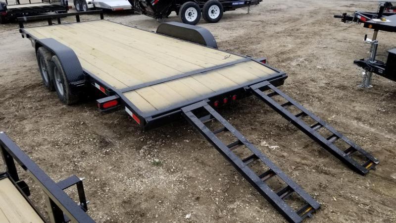 2021 M.E.B 7x20 Wood Deck Auto Hauler 10K