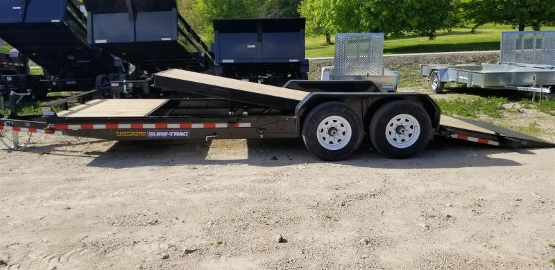 ON ORDER 2021 Sure-Trac 7x18+4 Tilt Deck Equipment Trailer w/Lock Out Value 14k