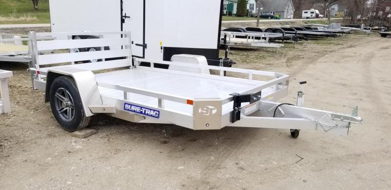 2021 Sure-Trac 7x10 Aluminum Low Side Utility Trailer 3K GVWR