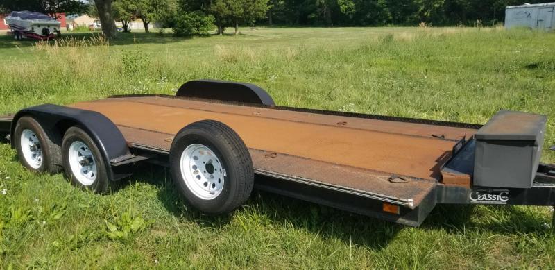 1989 Classic Manufacturing 6.5x18 Steel Deck Auto Hauler 7k