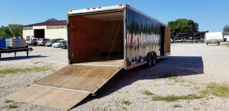 1996 US Coach Work 8.5x28 Enclosed Car Hauler Trailer 10k