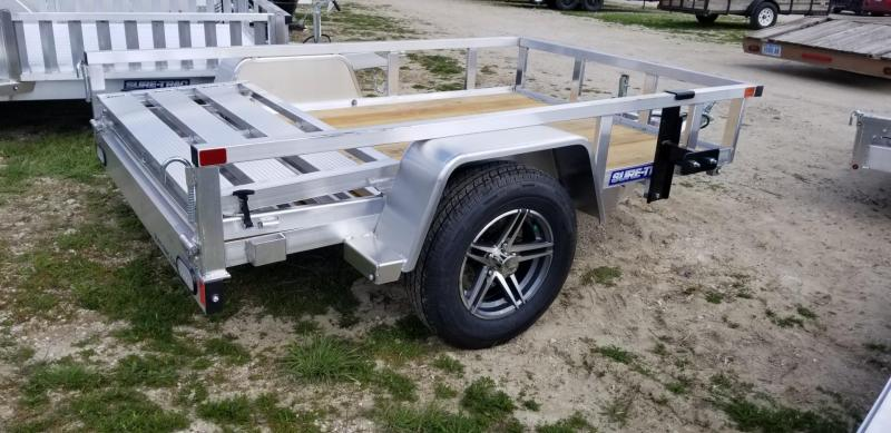 2021 Sure-Trac 5x8 Aluminum Top Tube Utility Trailer 3k GVWR