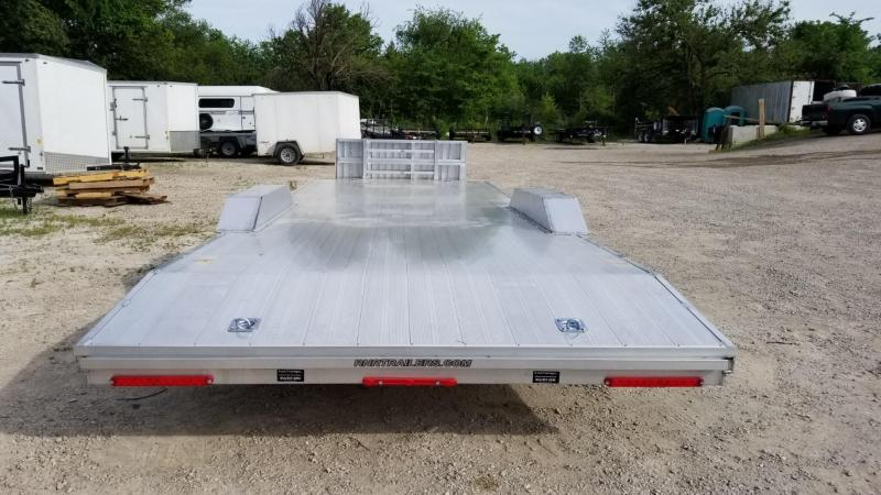 2022 R and R 7x24 All Aluminum Extra Wide Auto Hauler w/Drive Over Fenders 10k