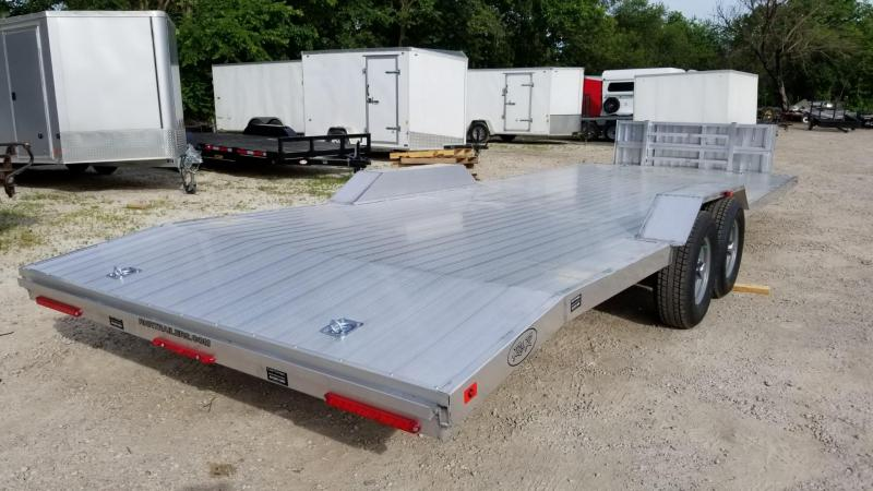 ON ORDER 2021 R and R 7x24 All Aluminum Extra Wide Auto Hauler w/Drive Over Fenders 10k