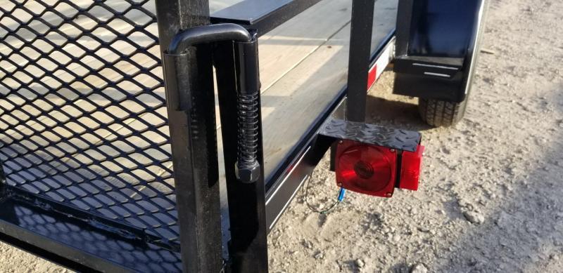 2021 M.E.B. 6.4x16 Utility Trailer w Gate and Brake 7k
