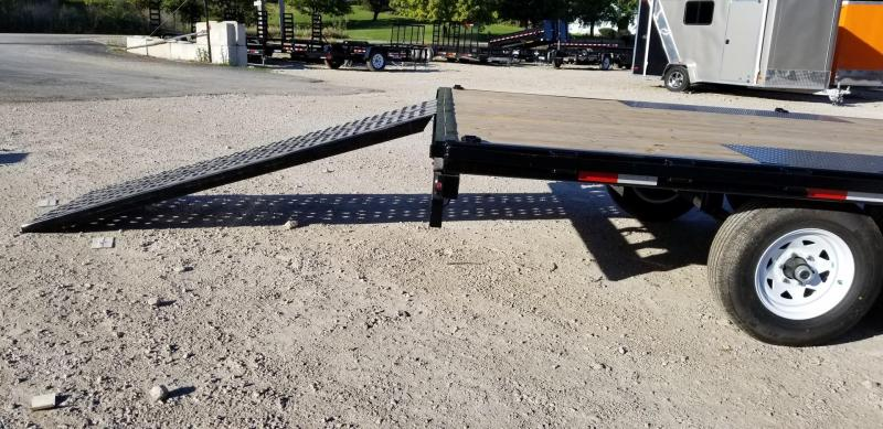 2022 Sure-Trac 8.5x20 Deckover Flatbed Trailer w/Slide Out Ramps 10k