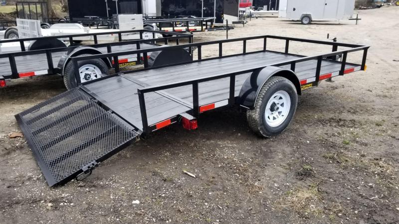 2021 M.E.B. 6.4x12 Angle Iron Utility Trailer w/Ramp and Dovetail 3k