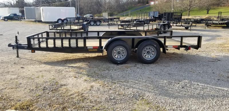 2020 M.E.B 6.4x16 ATV Utility Trailer w/Side Load Ramps and Brake 7k