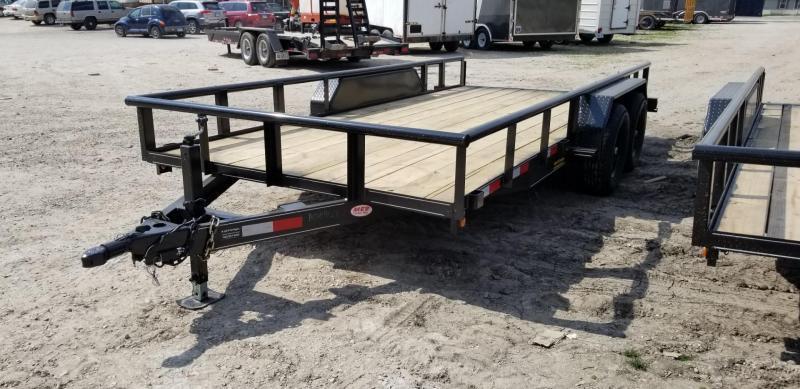 2021 M.E.B 6.4x16 Piperail Utility Trailer w/Ramps 10k