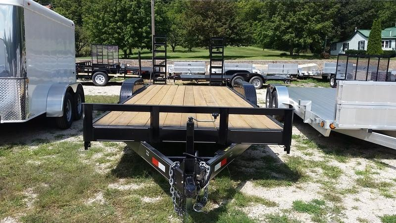 2020 M.E.B. 7x20 Wood Deck Equipment Trailer 12K