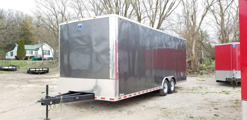 2022 Interstate ITW 8x24 Enclosed Auto Hauler Trailer w/Spring Assisted Ramp Door 10k
