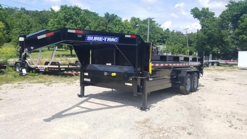 ON ORDER 2021 Sure-Trac 82x16 Gooseneck Telescopic Dump Trailer 14k