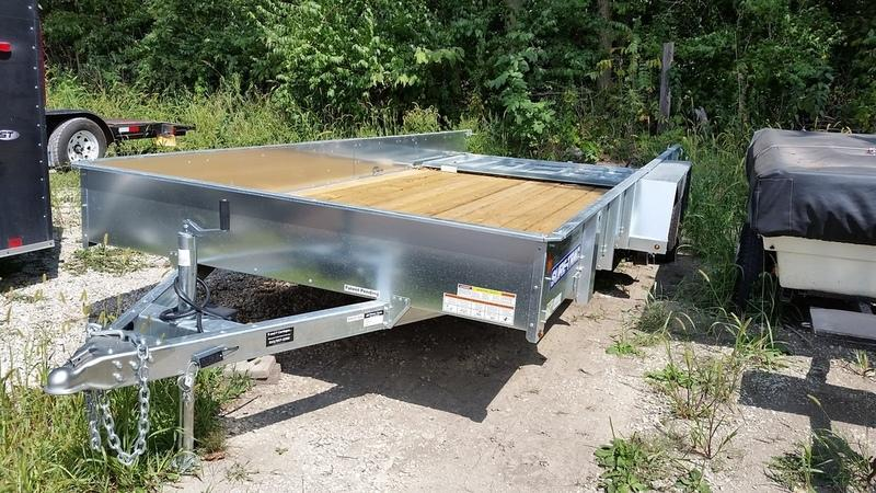 FOR RENT ONLY #20 7x16 Sure Trac High Side Utility Trailer