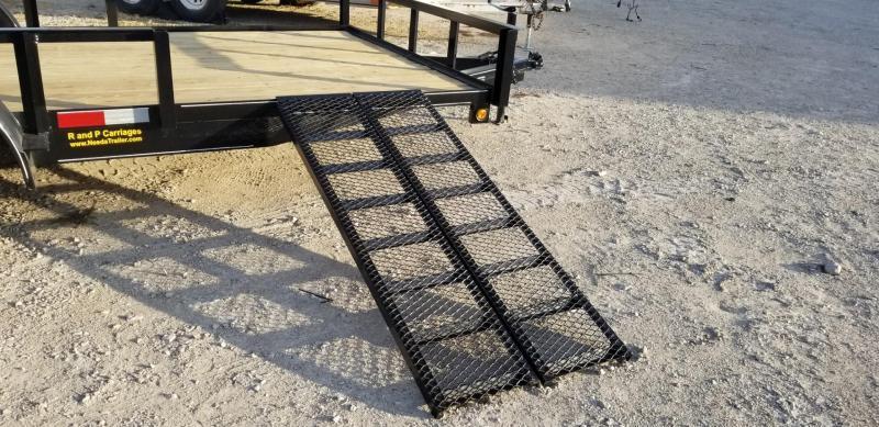 2021 M.E.B 82x16 ATV Utility Trailer w/Side Load Ramps and Brake 7k
