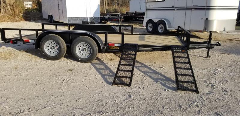 2020 M.E.B 82x16 ATV Utility Trailer w/Side Load Ramps and Brake 7k