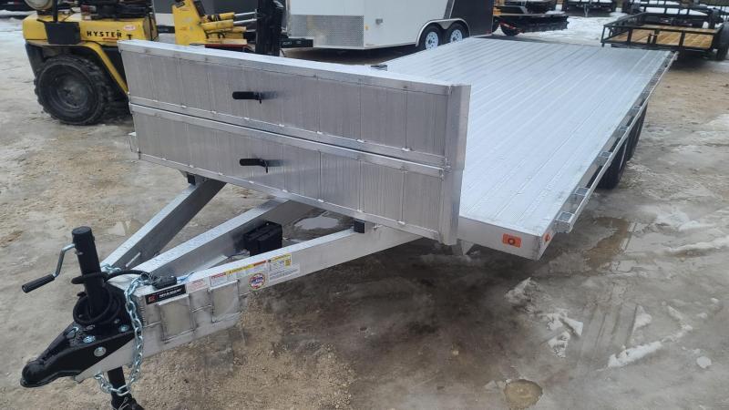 2021 R&R 8.5x20 All Aluminum Deckover Open Auto Hauler 10k