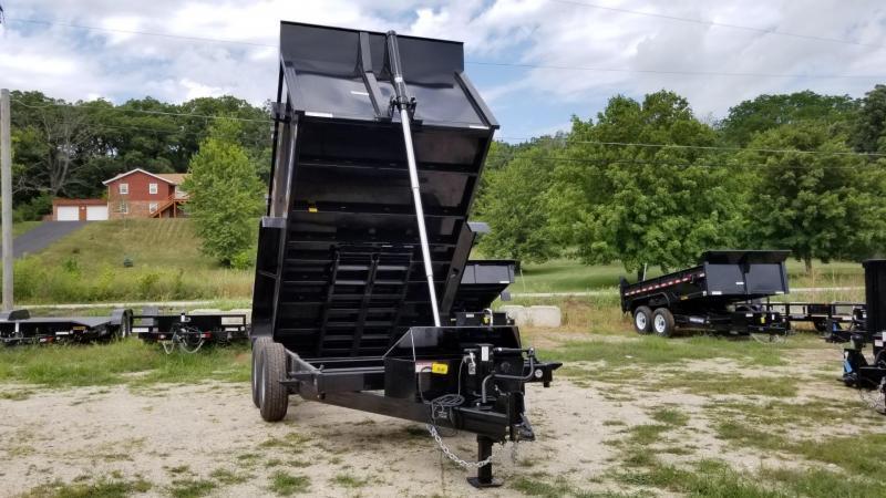 ON ORDER 2021 Sure-Trac 82x12 Telescopic Dump Trailer w/4' Sides 14k