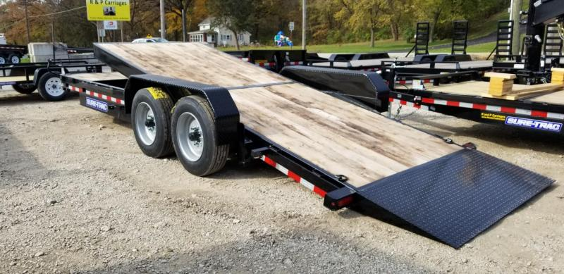ON ORDER 2020 Sure-Trac 7x18+4 Oak Wood Tilt Deck Equipment Trailer 16K