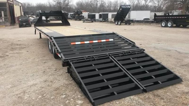 2021 Sure-Trac 8.5x20+5 Gooseneck Deckover Equipment Trailer w/Full Width Ramps 14k