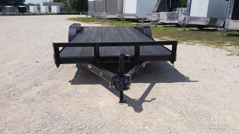 FOR RENT ONLY #17 7x18 M.E.B. Car Hauler w/Slide Out Ramps