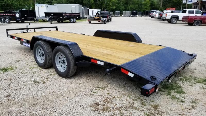 2022 Sure-Trac 7x20 Wood Deck Auto Hauler w/Slide Out Ramps 7k